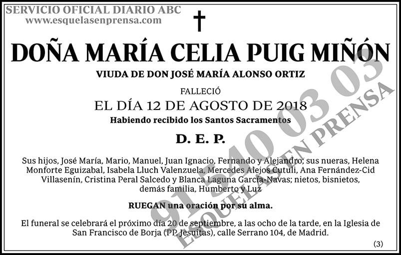 María Celia Puig Miñón